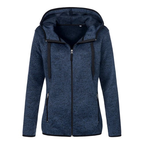 Blue - Front - Stedman Womens-Ladies Active Knitted Fleece