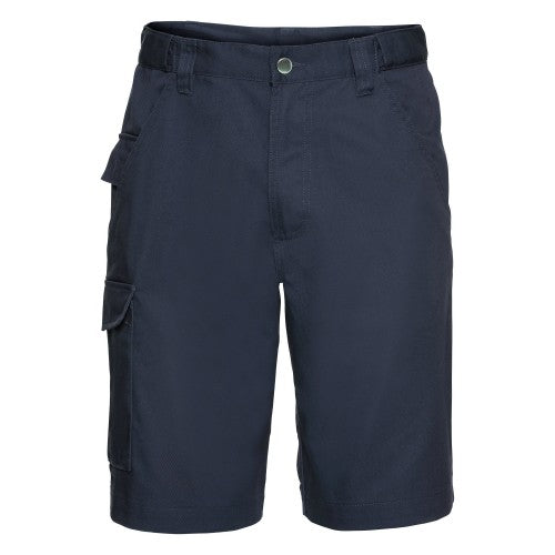 Front - Russell Workwear Twill Shorts