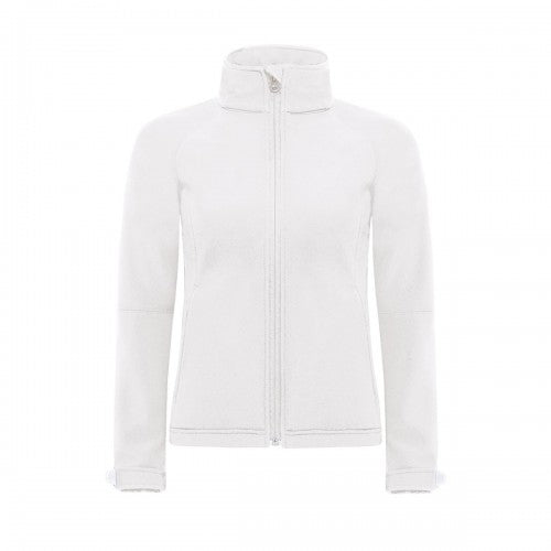 Front - B&C Womens Hooded Premium Softshell Jacket (Windproof, Waterproof & Breathable)
