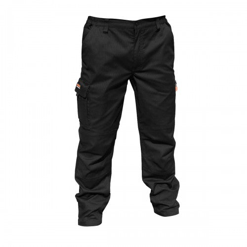 Front - Result Mens Stretch Work Trousers / Pants (34inch Long Length)