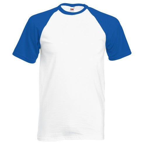 Front - Fruit Of The Loom Mens Short Sleeve Baseball T-Shirt