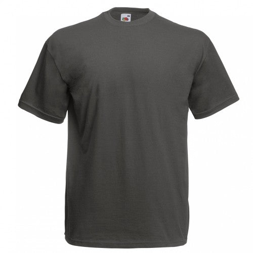 Dark Heather - Front - Fruit Of The Loom Mens Valueweight Short Sleeve T-Shirt