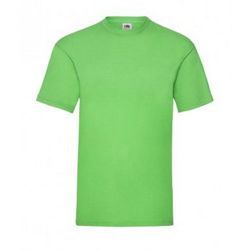 Lime - Front - Fruit Of The Loom Mens Valueweight Short Sleeve T-Shirt