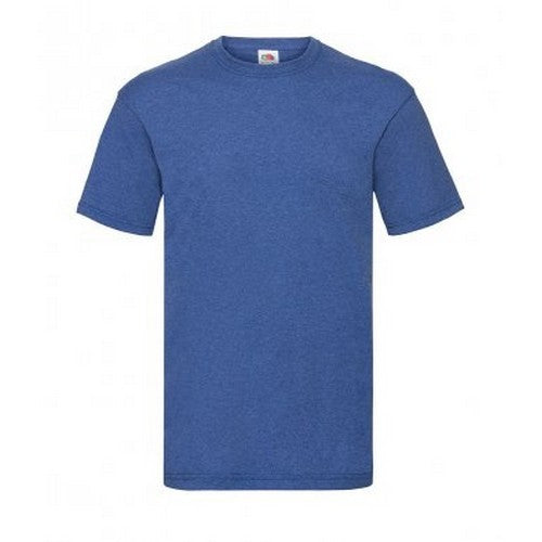 Retro Heather Royal - Front - Fruit Of The Loom Mens Valueweight Short Sleeve T-Shirt