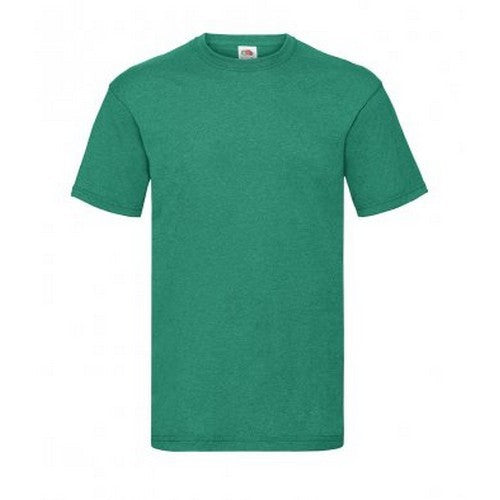 Retro Heather Green - Front - Fruit Of The Loom Mens Valueweight Short Sleeve T-Shirt