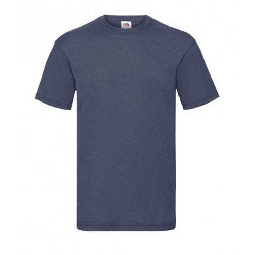 Vintage Heather Navy - Front - Fruit Of The Loom Mens Valueweight Short Sleeve T-Shirt