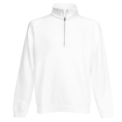 Front - Fruit Of The Loom Mens Zip Neck Sweatshirt