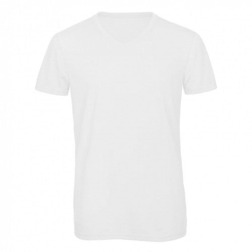 Front - B&C Mens Favourite Triblend V-Neck T-Shirt