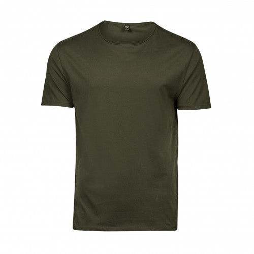 Front - Tee Jays Mens Raw Edge Short Sleeve T-Shirt
