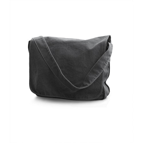 Front - Bags By Jassz Canvas Messenger Bag