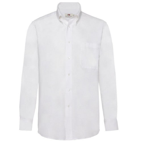 Front - Fruit Of The Loom Mens Long Sleeve Oxford Shirt
