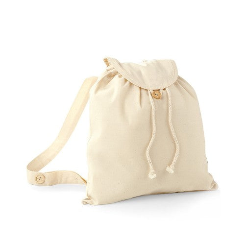 Front - Westford Mill Organic Festival Backpack Bag (8 Litres) (Pack of 2)
