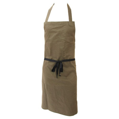 Front - Dennys Unisex Polycotton Bib Workwear Apron Without Pocket (Pack of 2)