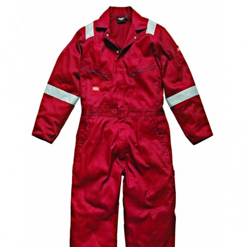 Front - Dickies Mens Hi-Vis Stripe Workwear Coverall (Pack of 2)