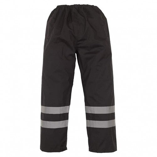 Front - Yoko Mens Hi-Vis Waterproof Contractor Over Trousers (Pack of 2)