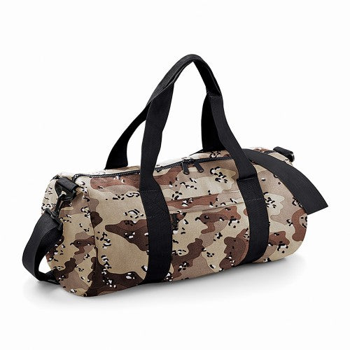 Front - Bagbase Camouflage Barrel / Duffle Bag (20 Litres) (Pack of 2)