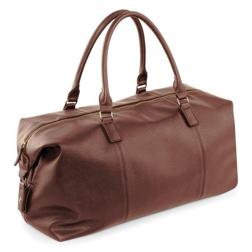 Front - Quadra NuHude Faux Leather Weekender Holdall Bag (Pack of 2)
