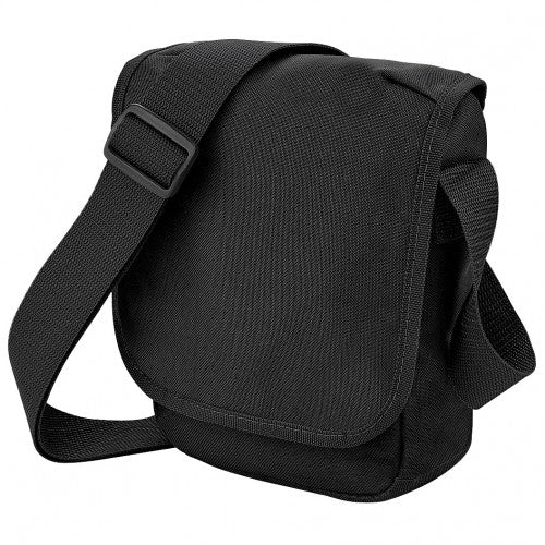 Front - Bagbase Mini Adjustable Reporter / Messenger Bag (2 Litres) (Pack of 2)