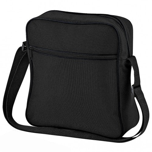 Front - Bagbase Retro Flight / Travel Bag (7 Litres) (Pack of 2)