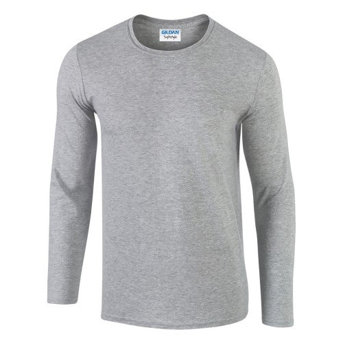 Front - Gildan Mens Soft Style Long Sleeve T-Shirt