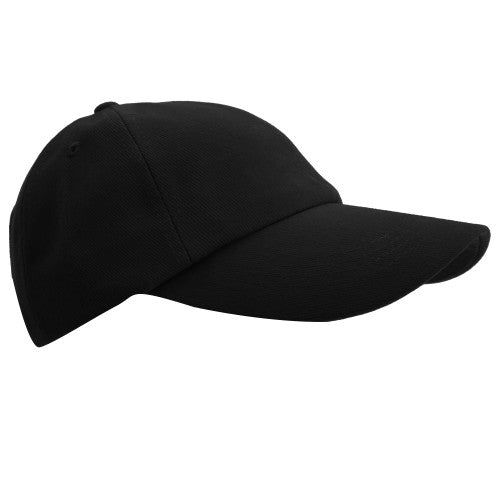 Front - Result Unisex Low Profile Heavy Brushed Cotton Baseball Cap