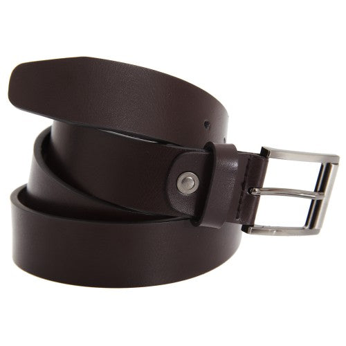 Front - FLOSO Mens Leather Lined Belt