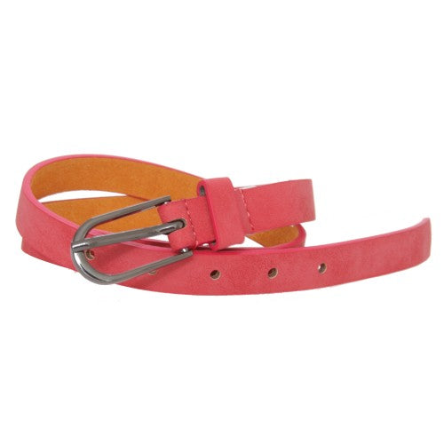 Front - Forest Womens/Ladies Simple Leather Belt