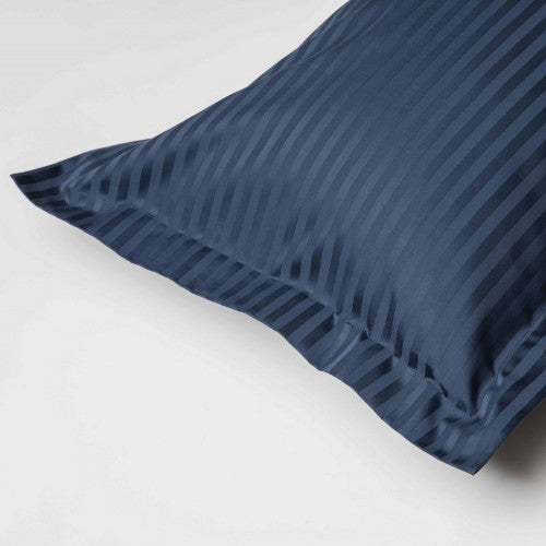 Front - Belledorm 540 Thread Count Satin Stripe Oxford Pillowcase