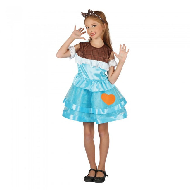 Front - Bristol Novelty Childrens Girls Cheeky Chocolate Costume
