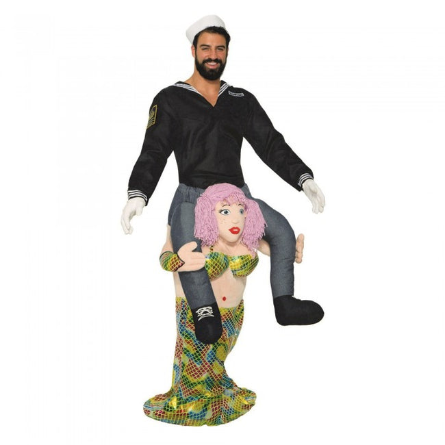 Front - Bristol Novelty Unisex Adults Mermaid Piggy Back Costume