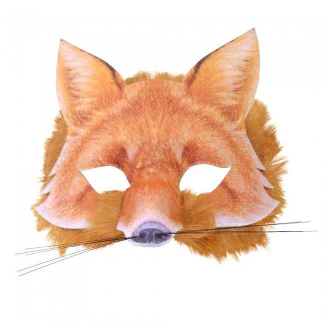 Front - Bristol Novelty Childrens/Kids Realistic Fur Fox Face Mask