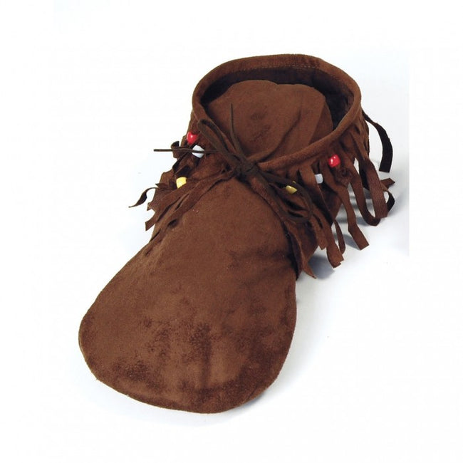 Front - Bristol Novelty Womens/Ladies Hippie Leather Moccasins