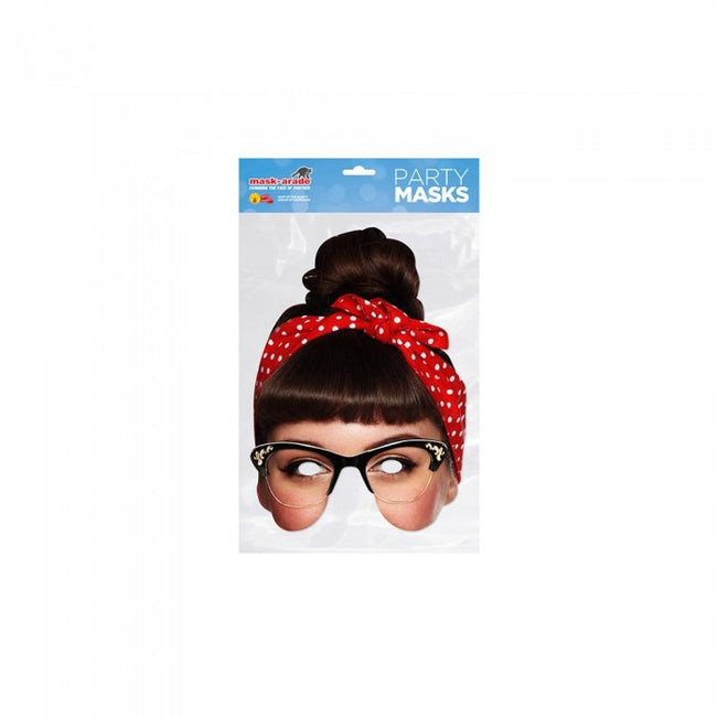 Front - Mask-arade Celebrity Rockabilly Face Mask