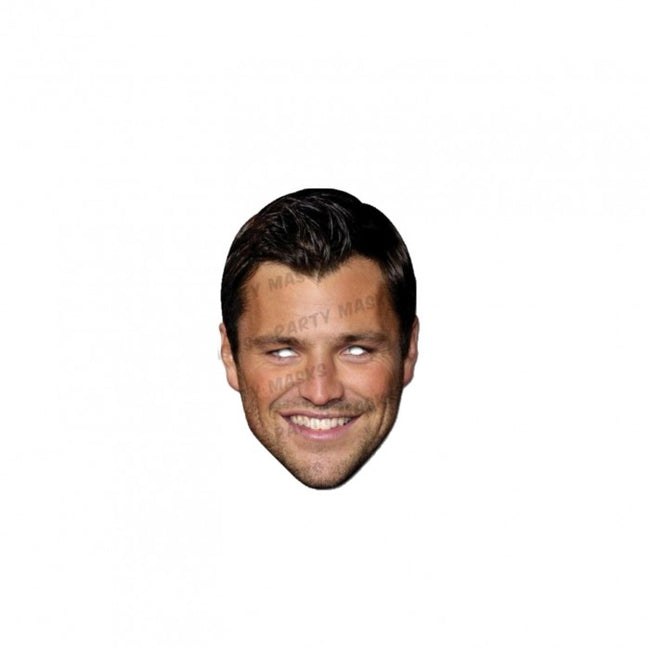 Front - Mask-arade Celebrity Mark Wright Face Mask