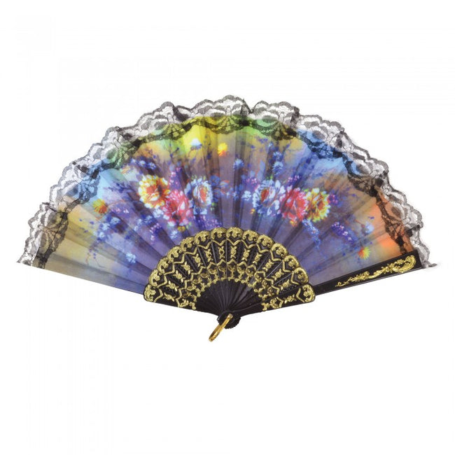 Front - Bristol Novelty Floral Lace Fan