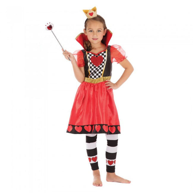 Front - Bristol Novelty Childrens/Girls Queen Of Hearts Costume