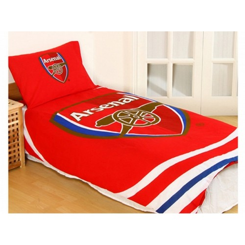 Front - Arsenal FC Pulse Reversible Duvet And Pillow Case Set