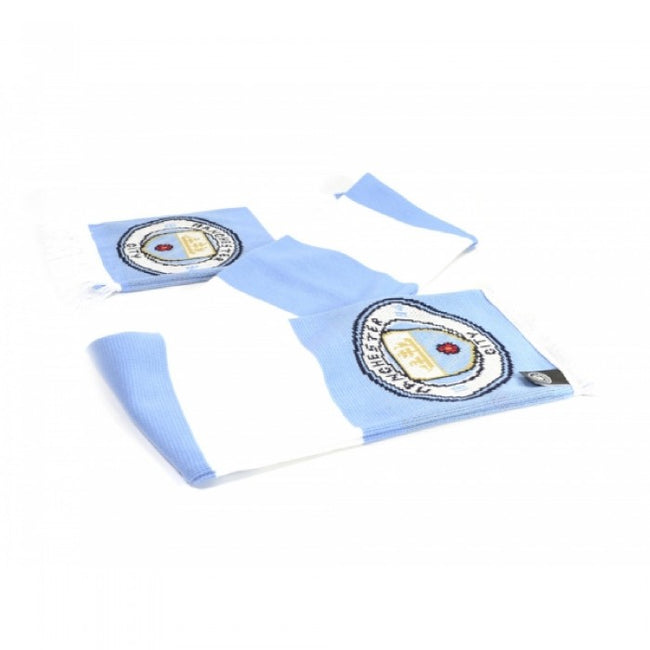 Front - Manchester City FC Unisex Adults Bar Scarf