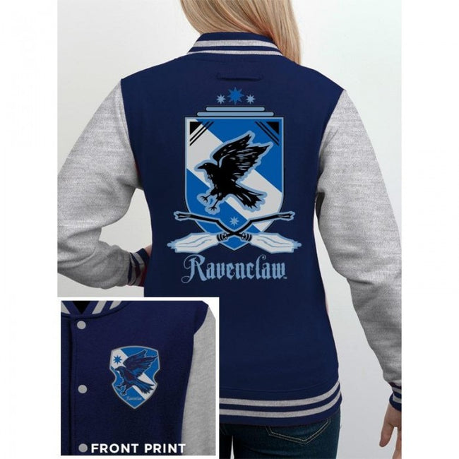 Front - Harry Potter Womens/Ladies House Ravenclaw Varsity Jacket