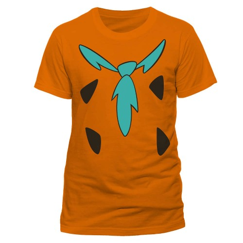 Front - The Flintstones Adults Unisex Adults Fred Costume T-Shirt