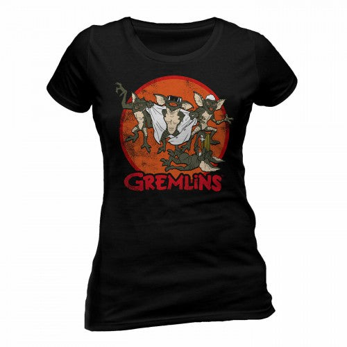 Front - Gremlins Womens/Ladies Retro Group T-Shirt