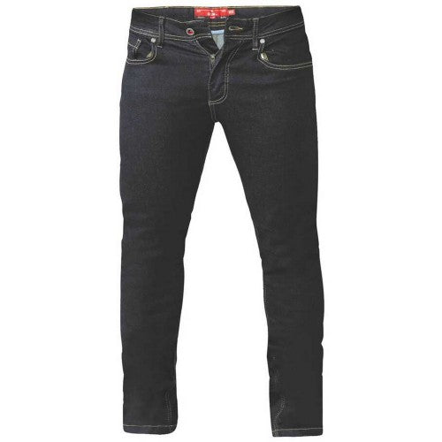 Front - Duke Mens Cedric King Size Tapered Fit Stretch Jeans