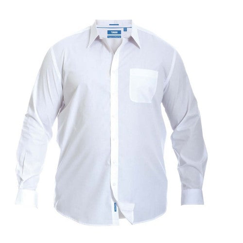 Front - Duke Mens Aiden Kingsize Long Sleeve Classic Regular Shirt