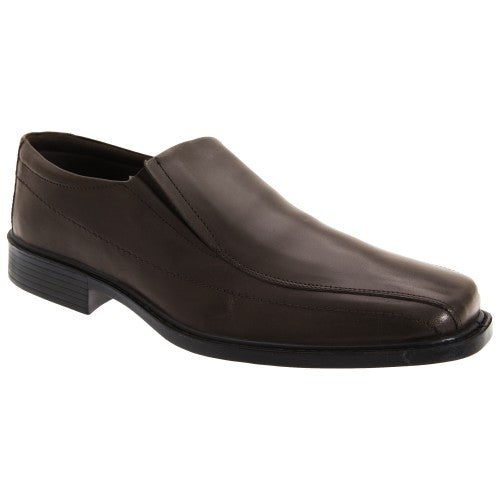 Front - Roamers Mens Superlite Twin Gusset Leather Shoes