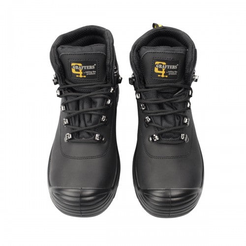 Front - Grafters Mens Super Wide EEEE Fitting Safety Boots