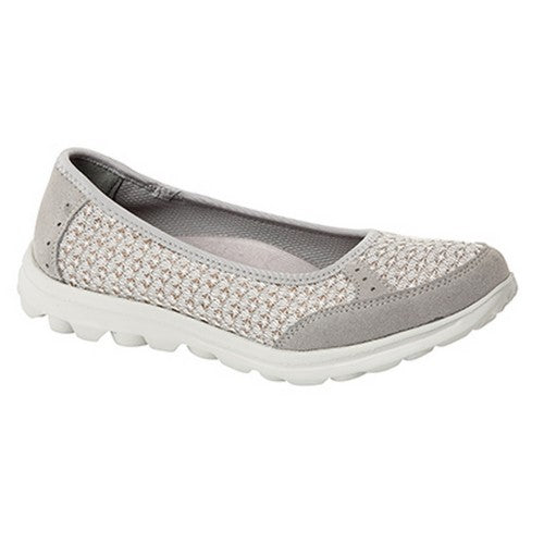 Front - Boulevard Womens/Ladies Slip On Memory Foam Shoes