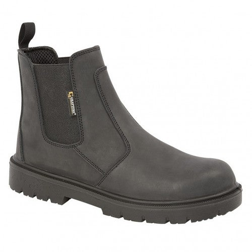 Front - Grafters Mens Brown Waxy Leather Safety Dealer Boots