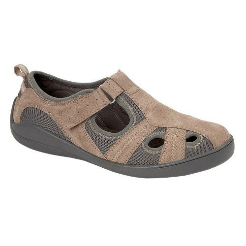 Front - Boulevard Womens/Ladies Leather/Textile Casual Shoe