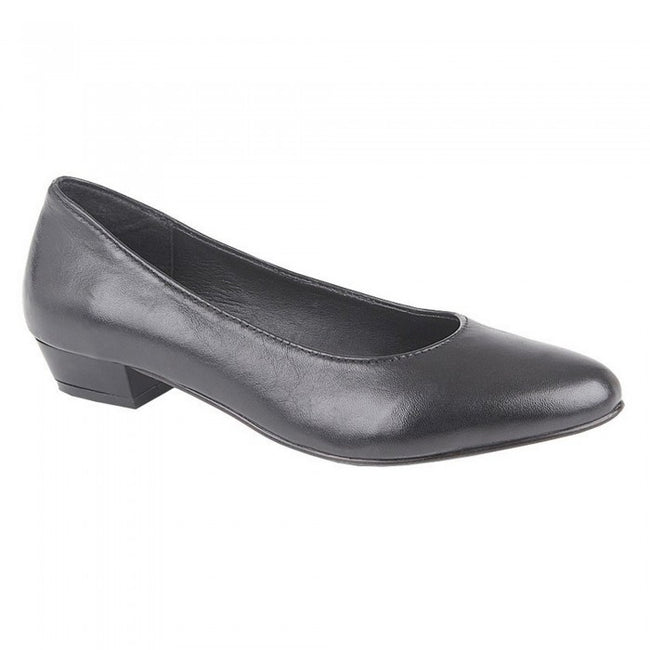 Front - Mod Comfys Womens/Ladies Leather Court Shoes