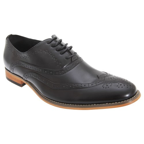 Front - Goor Mens 5 Eyelet Brogue Oxford Shoes